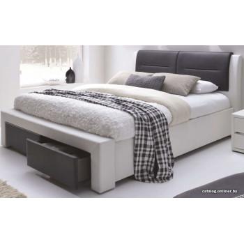 Кровать Halmar Cassandra S 200x140 (белый/черный)