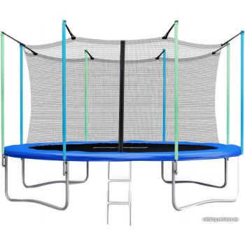 Atlas Sport 374 см - 12 ft (с лестницей, внутренняя сетка, синий)